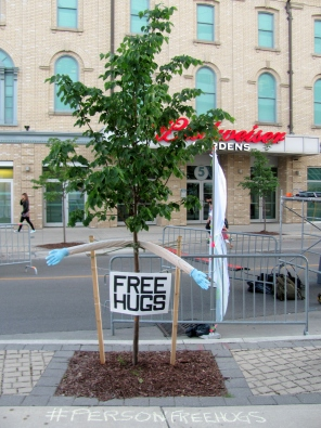 Person-Free Hugs Tree