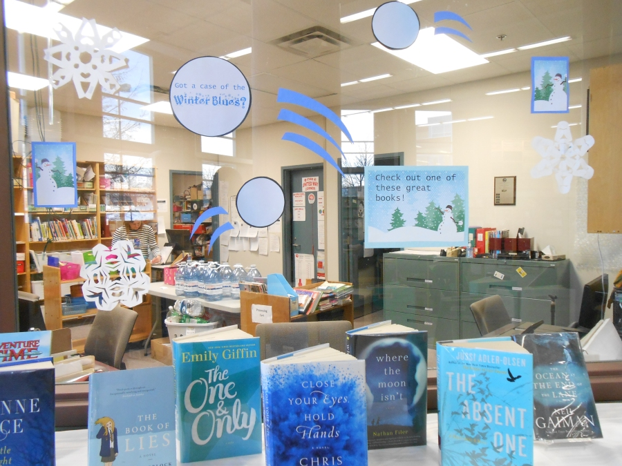 Winter Blues Library Display