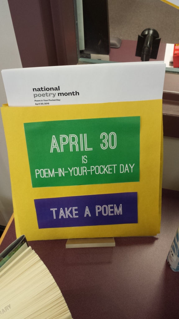 April Is Poetry Month Library Display