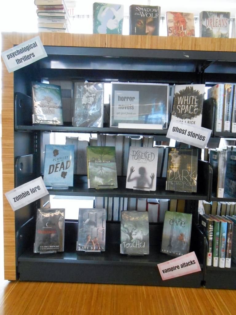 YA Horror Display Library