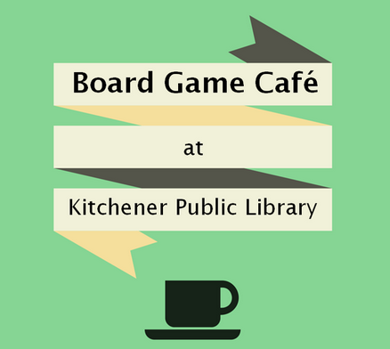 board game cafe sign