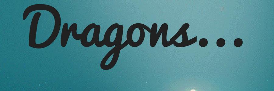 YA Dragon Library Display Sign