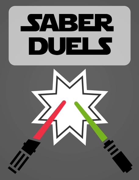 Light Saber Duels Sign