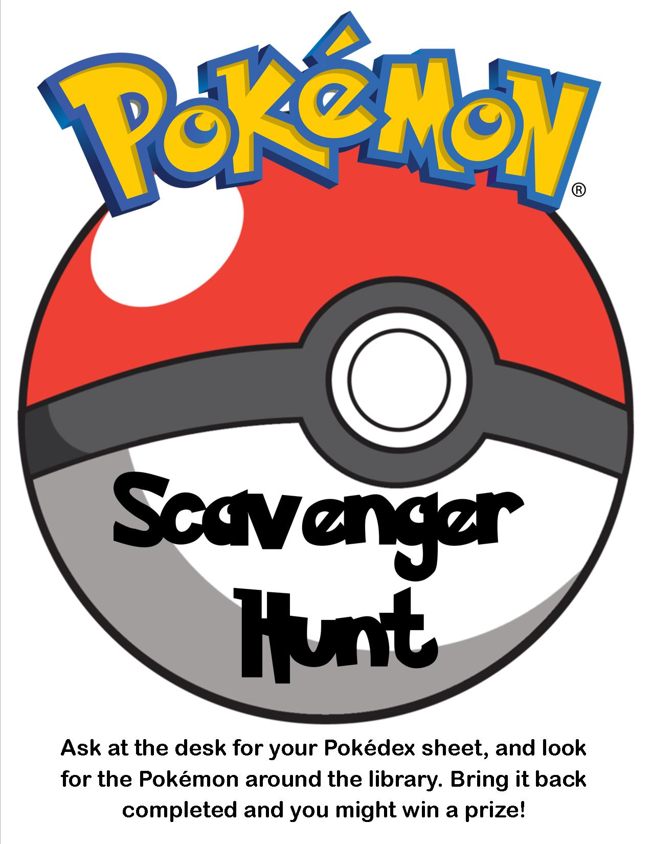 Pokemon Scavenger Hunt Ideas Images