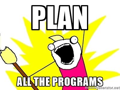 plan all the programs