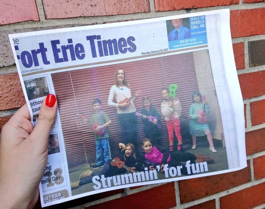 Fort Erie Times Cover Ukulele