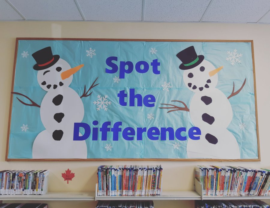 spot the difference snow people